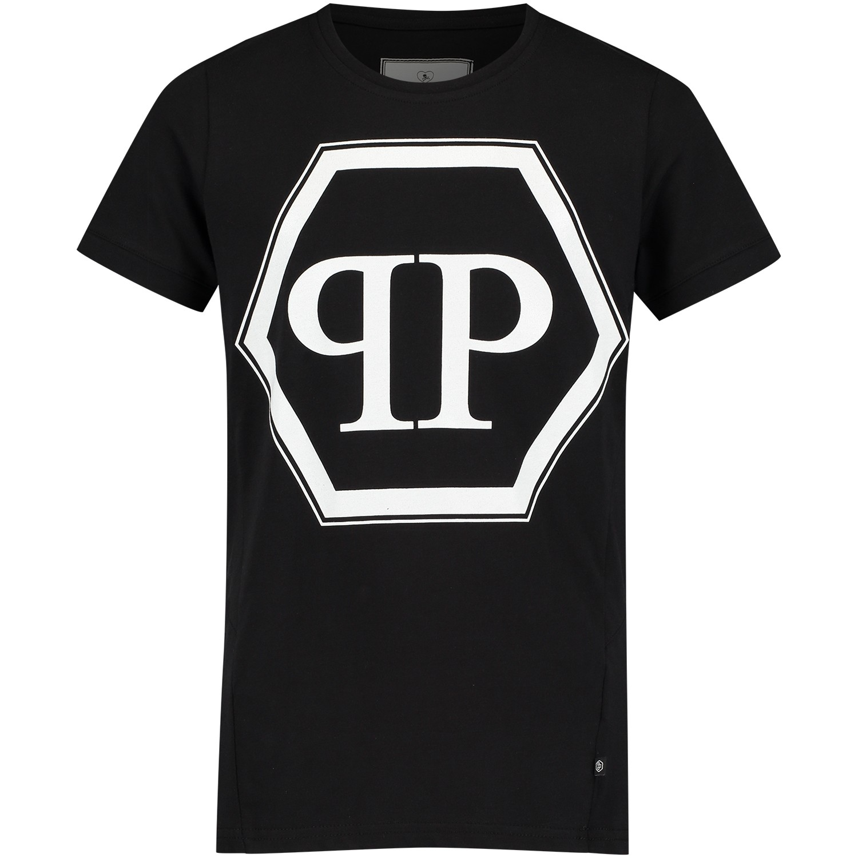 Afbeelding van Philipp Plein BTK0360 kinder t-shirt zwart
