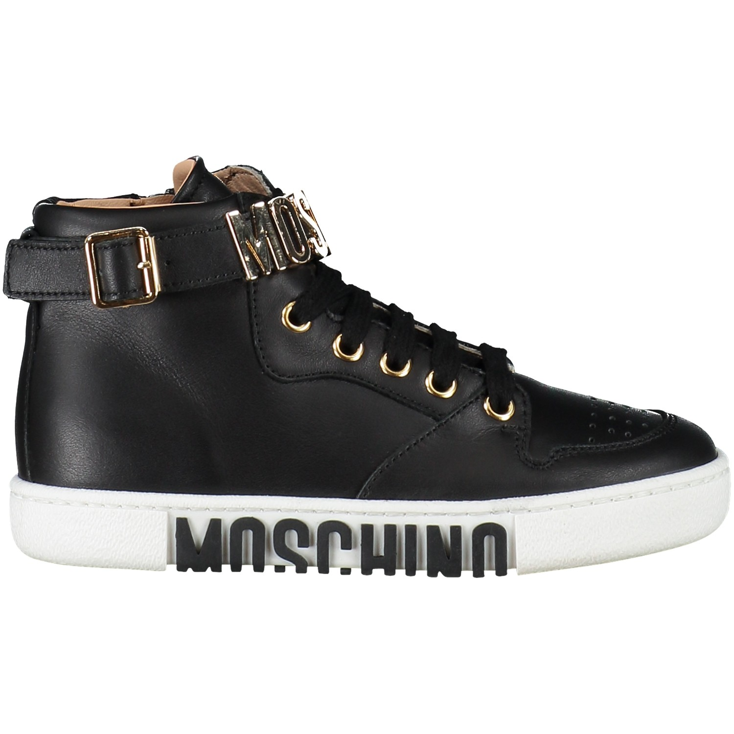Picture of Moschino 25986 kids sneaker black
