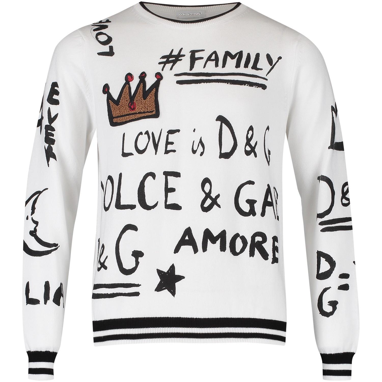 Dolce   Gabbana L44K33 jongens kindertrui wit bij Coccinelle 8eb946084c68