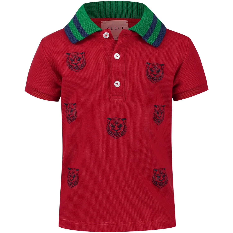 Afbeelding van Gucci 497826 baby polo rood