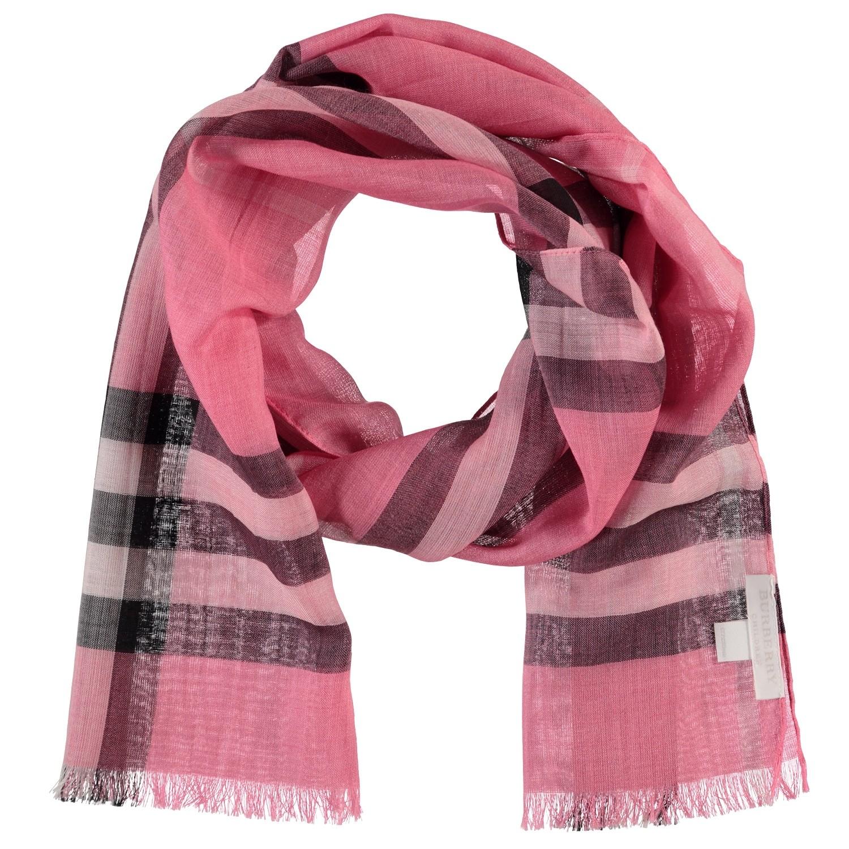 Afbeelding van Burberry GAUZE EXP baby shawl roze