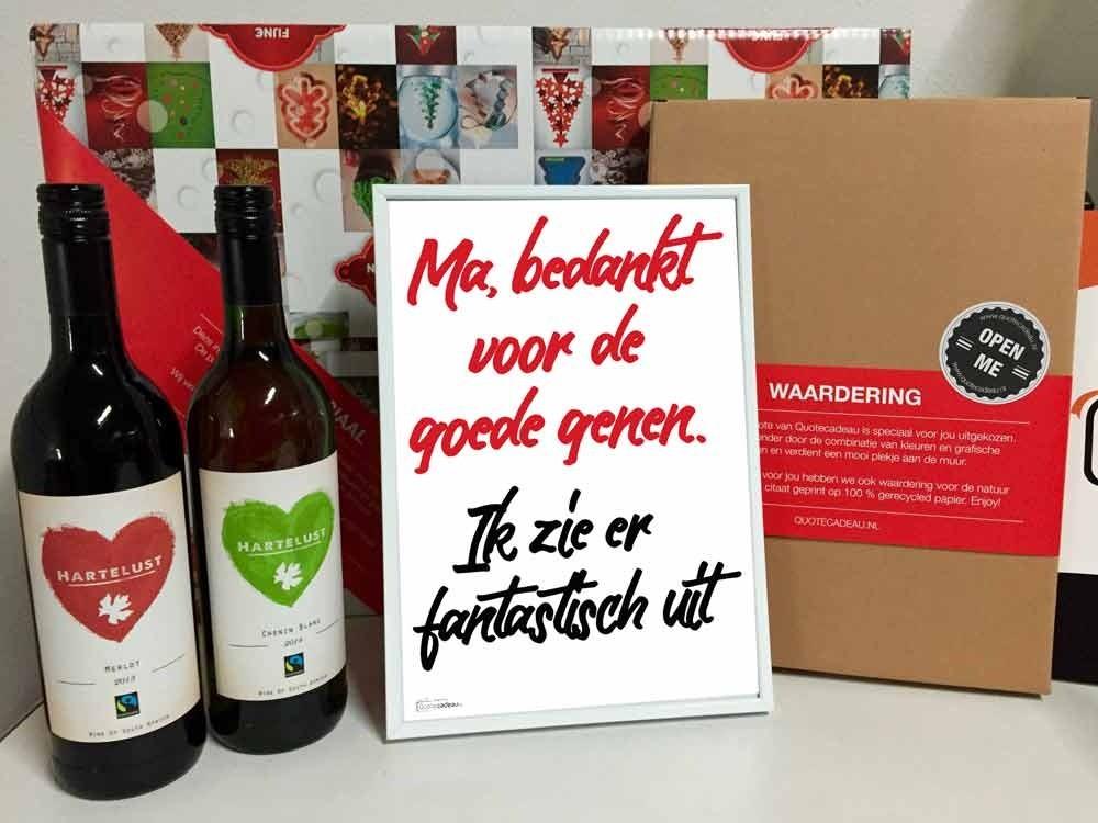 Foto van Moedersdag Wijn en spreuk pakket (tweede wijn gratis)