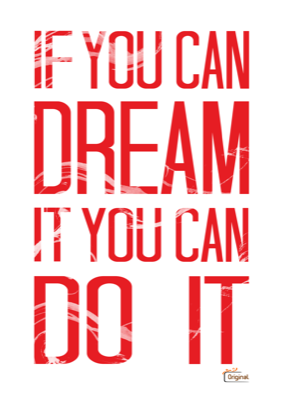 If You Can Dream It You Can Do It Rood Quote Cadeau