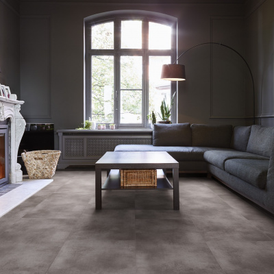 Foto van Luxury Living Premium 0.5 Tiles Terazzo Antraciet RCS8130