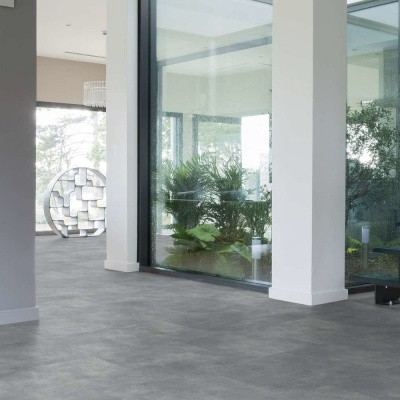 Foto van Gerflor Creation 55 Bloom Uni Grey 0869