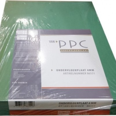 Foto van PPC Groene Ondervloerplaat 4mm