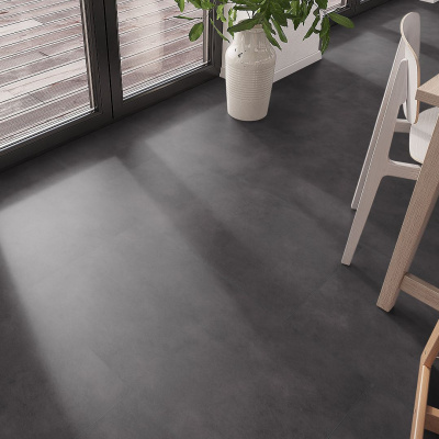 Foto van Luxury Living Premium 0.5 Tiles Terazzo Black RCS8100