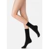 Afbeelding van Oroblu GWEN wol/cashmere dames sok met kabelmotief BLACK MELE VOBFCB30S,