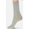 Afbeelding van Oroblu GWEN wol/cashmere dames sok met kabelmotief grey melange VOBFCB30S
