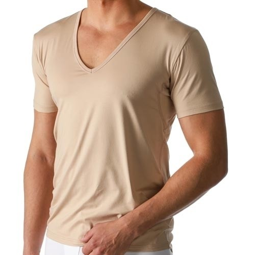 6d10765caab Mey Dry Cotton Functional V-Neck T-Shirt SKIN 46038