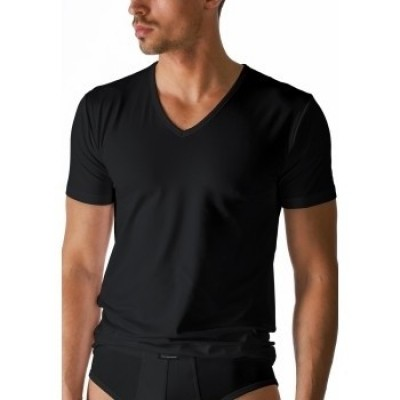 Foto van Mey Dry Cotton V-Neck T-Shirt BLACK 46007