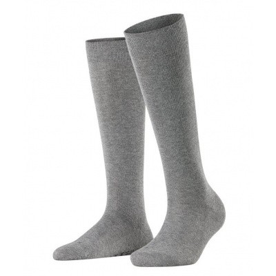Foto van Falke Sensitive London dames kniekous LIGHT GREY MELE 47626 - 3399