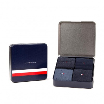 Foto van Tommy Hilfiger herensokken Giftbox 4-pack DARK NAVY 492001001 322