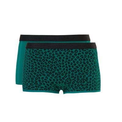 Foto van Ten Cate meisjes boxer 2-Pack Emerald & Leopard Emerald 31595 2168
