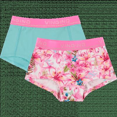 Foto van Vingino 2-Pack meisjes boxers Tropical Neon Pink SS20KGN72607-500
