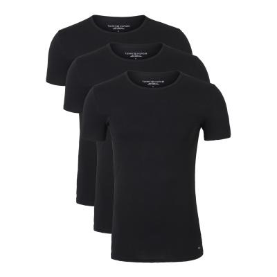 Foto van Tommy Hilfige Premium Essentials 3-pack heren T-Shirts ZWART 2S87905187 - 990