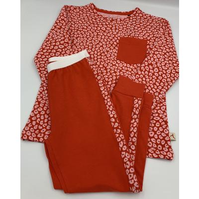 Foto van Ten Cate Meisjes Pyjama Home and Night Red & Leopard Red 31552 2165