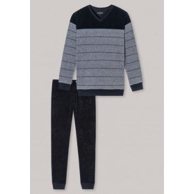 Foto van Schiesser Pyjama lange broek / lange mouw badstof 171827- 803