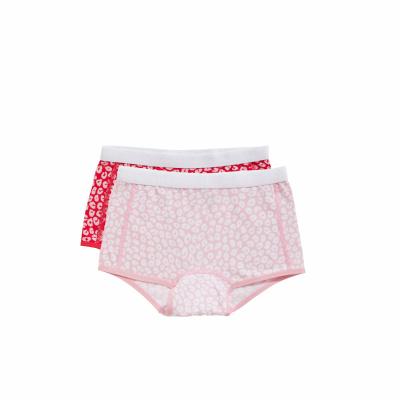 Foto van Ten Cate meisjes boxer 2-Pack Leopard pink/Leopard red 31590 2232