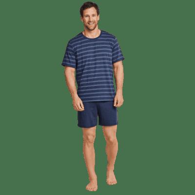 Foto van Schiesser heren pyjama korte mouw, korte broek. 163781 805