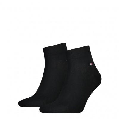 Foto van Tommy Hilfiger Heren quarter sneaker sokken 2-pack BLACK 342025001