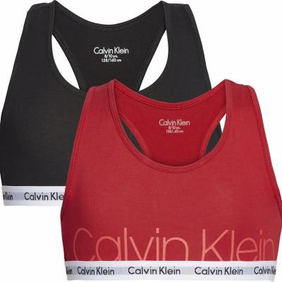 Foto van Calvin Klein Modern Cotton meisjes 2-Pack Bralette Top G80G800276 OKS