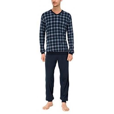 Foto van Schiesser Pyjama Lange broek / lange mouw Blauw 160435-209
