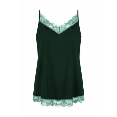 Foto van Mey dames hemd Poetry Fame Dark Green 75709 014