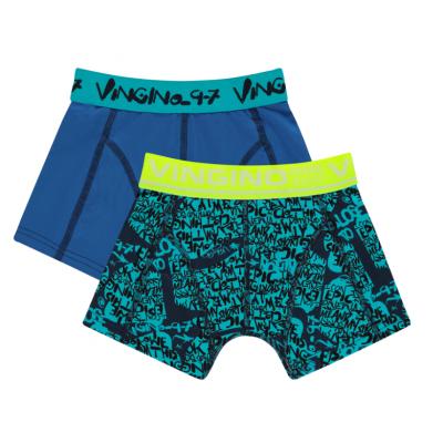 Foto van Vingino 2-Pack jongens boxershort GRAFITY CAPRI BLUE HS20KBN72504-101