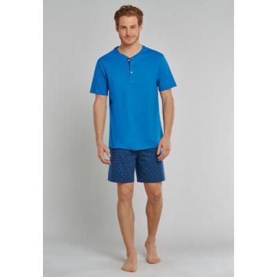 Foto van Schiesser Heren pyjama korte mouw, korte broek Blauw 171824 - 800
