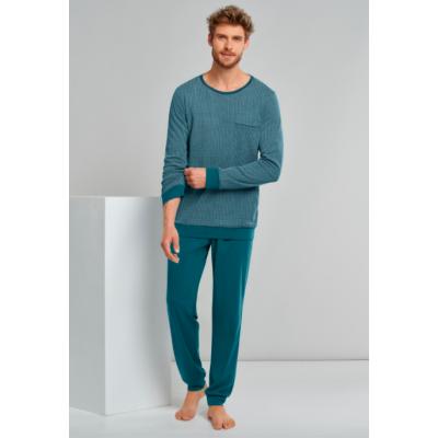 Foto van Schiesser Heren pyjama/loungewear set PETROL 173866 811