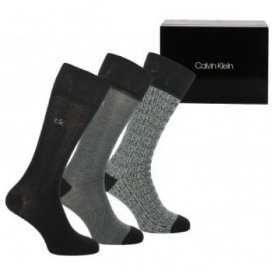Foto van Calvin Klein Herensokken 3-pack Cadeaudoos 100002161 001 BLACK