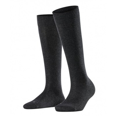 Foto van Falke Sensitive London dames kniekous ANTHRACITE MELE 47626 - 3089