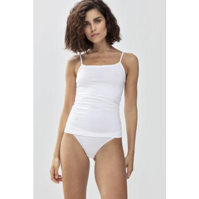 Foto van Mey Organic dames hemd spaghetti bandjes white 25815