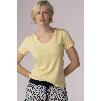 Foto van Mey Dames Night2Day T-Shirt 16387 591 CITRONELLA