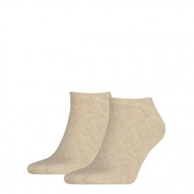 Foto van Tommy Hilfiger Heren sneakers sokken 2-pack LIGHT BEIGE MELANGE 342023001