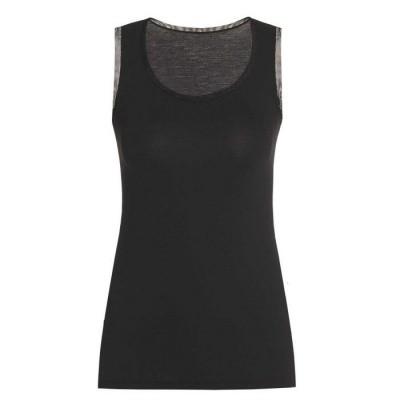 Foto van Oroblu dames hemd Tank Top uit de Perfect Line serie VOBT01648 ZWART