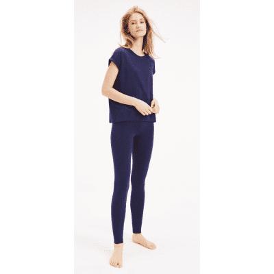 Foto van Tommy Hilfiger Dames Pyjamaset met legging Blauw UW0UW01348-409