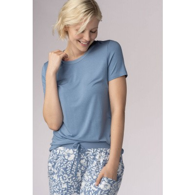Foto van Mey Dames Shirt uit de serie Sleep & Easy CORNFLOWER 16016