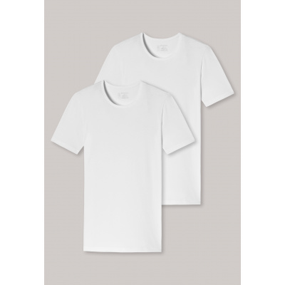 Foto van Schiesser T-shirt Ronde-Hals 2-Pack 95/5 WIT 174997-100