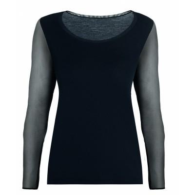 Foto van Oroblu Bodywear T-Shirt MICROMODAL uit de Perfect Line serie VOBT01649 Zwart