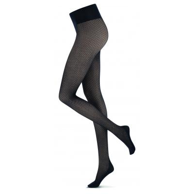 Foto van Oroblu ECO Fashion panty Black Hexagon VOBC66666 8SR
