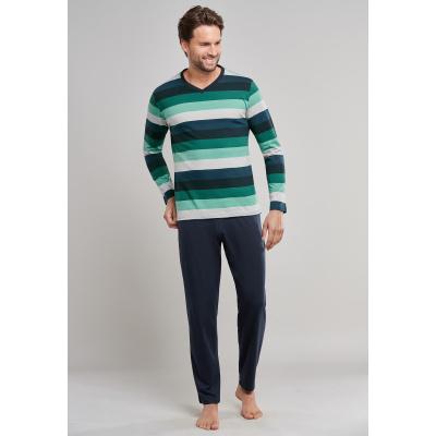 Foto van Schiesser Pyjama lange broek , lange mouw Groen 171380 700