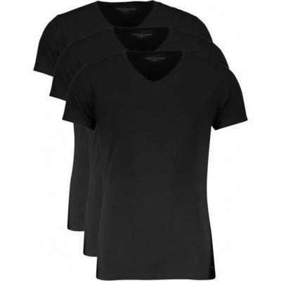 Foto van Tommy Hilfige Premium Essentials 3-pack heren T-Shirts V-hals ZWART 2S87903767 990
