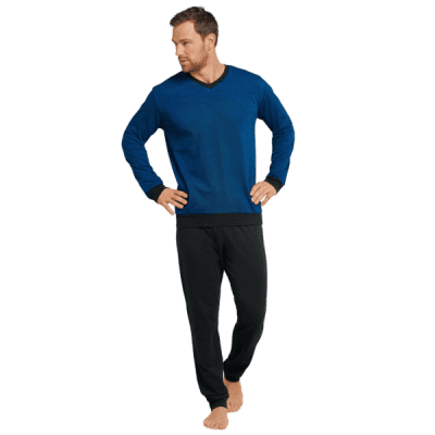 Foto van Schiesser Heren pyjama/loungewear set ROYAL BLUE 16804-819