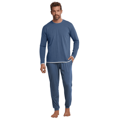 Foto van Schiesser Heren pyjama/loungewear set BLUE 166142-824