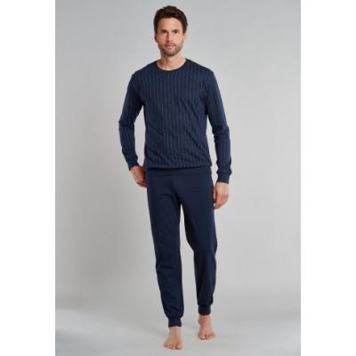Foto van Schiesser Heren pyjama/loungewear set DONKER BLAUW 171961 - 803