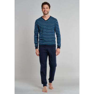 Foto van Schiesser Heren pyjama/loungewear set DONKER BLAUW 171960-803