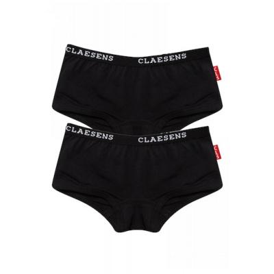 Foto van Claesens's Girls 2-Pack Hipster Junior Basic serie ZWART CL739