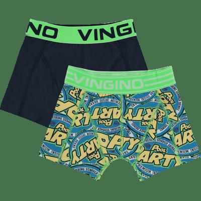 Foto van Vingino 2-Pack jongens boxershort DARK BLUE SS19KBN72501 100